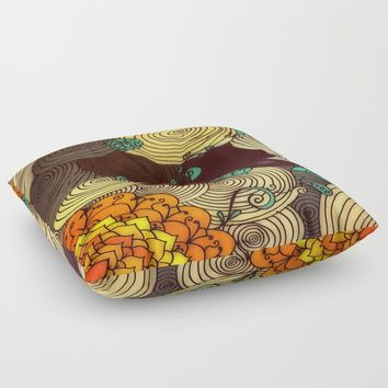 Earth Floor Pillow by DuckyB
