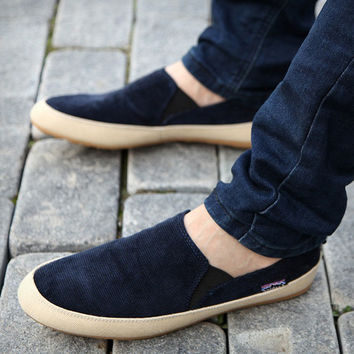Fashionable plain Men's sneakers