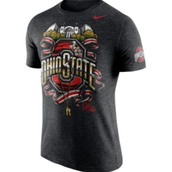 Nike Men's Ohio State Buckeyes Authoritative Heathered Black T-Shirt