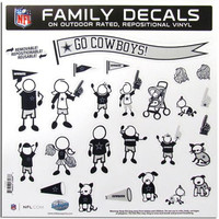 Dallas Cowboys NFL Family Car Decal Set (Large)