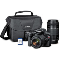 Walmart: Canon Black EOS Rebel T3 12.2MP Digital SLR Camera Kit with Two Lenses, SD Card, Bag