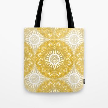 Orange Mandala Tote Bag by Stefanie Juliette