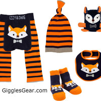 Orange & Navy Fox Boys (Set of 5)