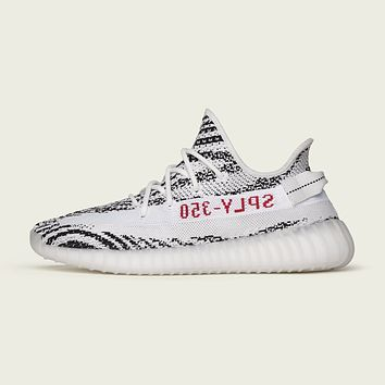Come With Box Authentic Adidas Yeezy Boost 350 V2 Zebra size 8.5 with printed email receipt