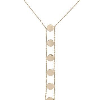 Double Chain Disc Lariat