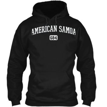 American Samoa 684 Country Area Code Samoan Pride T-Shirt Pullover Hoodie 8 oz