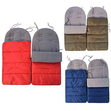MUQGEW Winter Baby Toddler Universal Footmuff Cosy Toes Apron Liner Buggy Pram Stroller sleeping bags windproof warm thick cott
