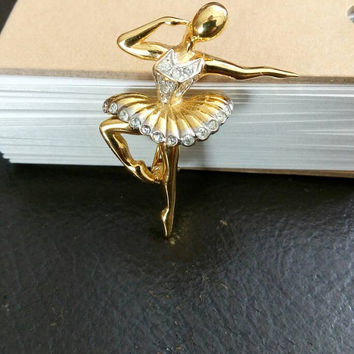 MARCEL BOUCHER for D'ORLAN Ballerina Dancer Ballet of Jewels Brooch Pin Signed