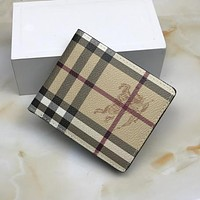 Burberry Men Leather Wallet Purse