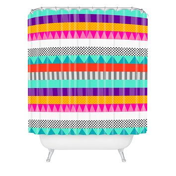 Elisabeth Fredriksson Happy Stripes 2 Shower Curtain