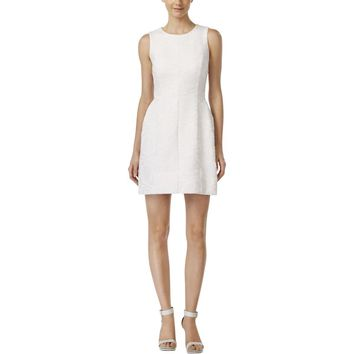 Calvin Klein Womens Applique Sleeveless Party Dress