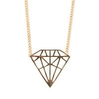 With Love From CA Big Diamond Necklace at PacSun.com