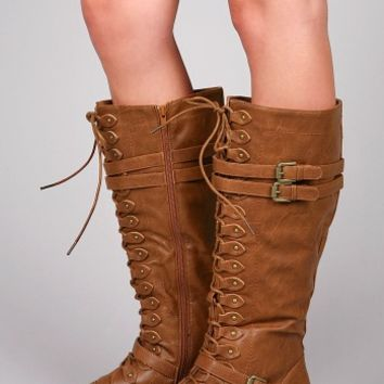 Battalion Knee High Boots | Combat Boots at Pinkice.com
