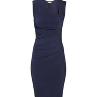 H&M - Draped Dress - Dark blue - Ladies