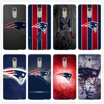 for Xiaomi Redmi Mi Note 2 3 3S 4 4A 4X 5 5X 5S 5A 6 6X A1 Pro Plus Soft TPU Silicone Cell Phone Cases New England Patriots Logo