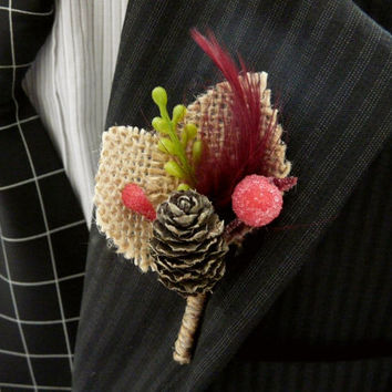 Custom order- Reserved for J. Boutonniere Set of 20