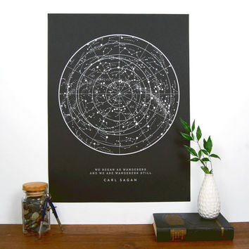 Sagan Star Chart - Black