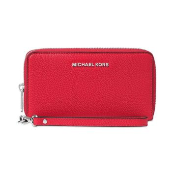 Michael Kors Mercer Flat Phone Case Bright Red 32F6SM9E3L-204 MSRP $108