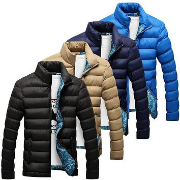 Winter Jacket Men 2018 New Cotton Padded Thick Jackets Parka Slim Fit Long Sleeve Quilted Outerwear Clothing Warm Coats