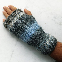 Mens Fingerless Gloves,Knit Wrist Warmer,Hand Knitted Winter Gloves Mittens,Warm Handmade Gloves,Women Gloves,Knit Accessories,FREE SHIPPING