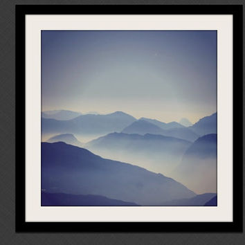 Mountain Photography, Wilderness Wall Art, Mountain Print, Nature Photo, Moody Landscape, Photography Print