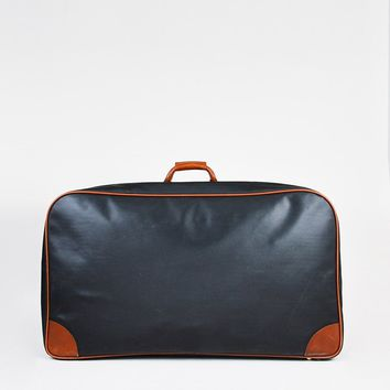 Bottega Veneta Black Brown Textured Leather Oversized Suitcase