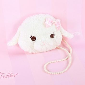 Sweet Fluffy Alpaca Lolita Messenger Bag $51.99-Girls Shoulder Bags - My Lolita Dress