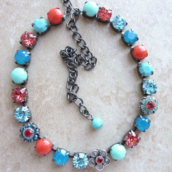 swarovski crystal necklace, gypsy, better than sabika, GREAT PRICE