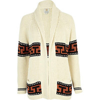 Cream aztec stripe cardigan