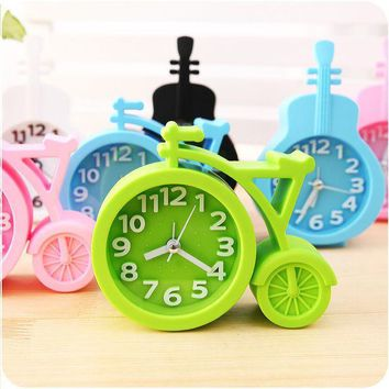 ICIK272 Candy colors Creat Portable mini Mute children student clock bicycle Desk Table Alarm Clocks gifts favor