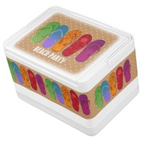 Rainbow Sandals flip flops sandy dots beach party