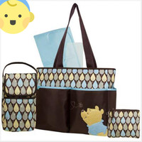 Disney Pooh 4-pc. Brown Leaf Diaper Bag