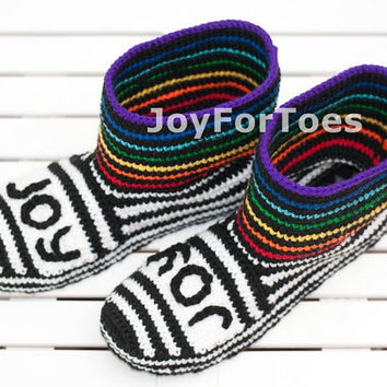 Crochet Shoes Boots for the House Rainbow Custome Made