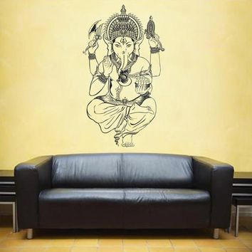 ik1811 Wall Decal Sticker Hindu elephant god Ganesh living room bedroom