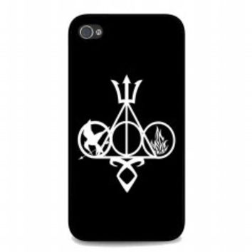 Harry Potter, Percy Jackson, Mortal Instruments, Hunger Games, and Divergent for iphone 4 and 4s case