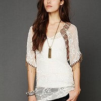 Free People Entwined Embroidery Top