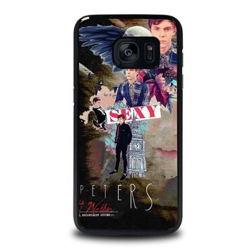 evan peters college samsung galaxy s7 edge case cover  number 1