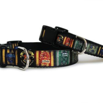 Houses of Hogwarts Dog Collar