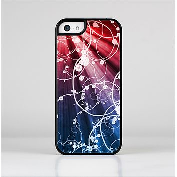 The Blue and Red Light Arrays with Glowing Vines Skin-Sert Case for the Apple iPhone 5c
