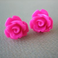 Adorable Mini Rose Earrings - Honey.. on Luulla