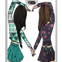 Best Friends Forever BFF Samsung Galaxy Note 4 Cases - Hard Plastic, Rubber Case