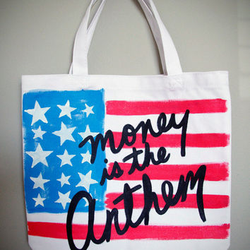 Lana Del Rey - Money Is The Anthem Pop Art Tote Bag