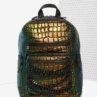 Ash Domino Leather Backpack - Irridescent