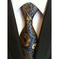 The Paisley Tie-Blue/Gold