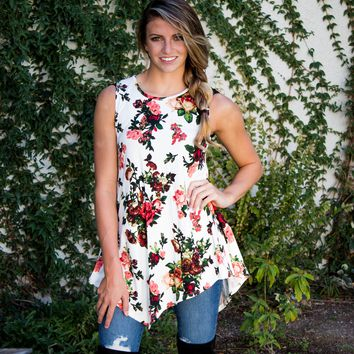 Sweet Life Floral Top - Ivory
