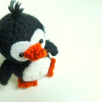 Crocheted Animal Crochet Penguin Plush | Crochet Animal | Amigurumi Penguin | Plush Penguin Stuffed Animal | Amigurumi Crochet | Amigurumi