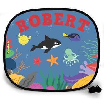 Ani-Mates Under The Sea Killer Whale Party Personalised UV Protection Car Sunshade