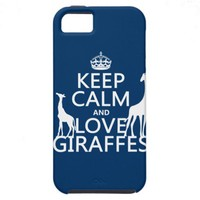 Keep Calm and Love Giraffes - all colours iPhone 5 Cases from Zazzle.com