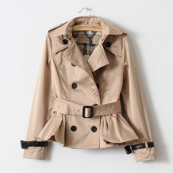 2016 New Fashion Women's Winter Trench Original brand Short Overcoat high quality anti-wrinkle Cotton elegant outfit slim fit