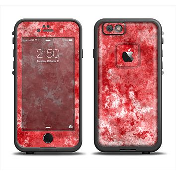 The Red Splotted Paint Texture Apple iPhone 6 LifeProof Fre Case Skin Set